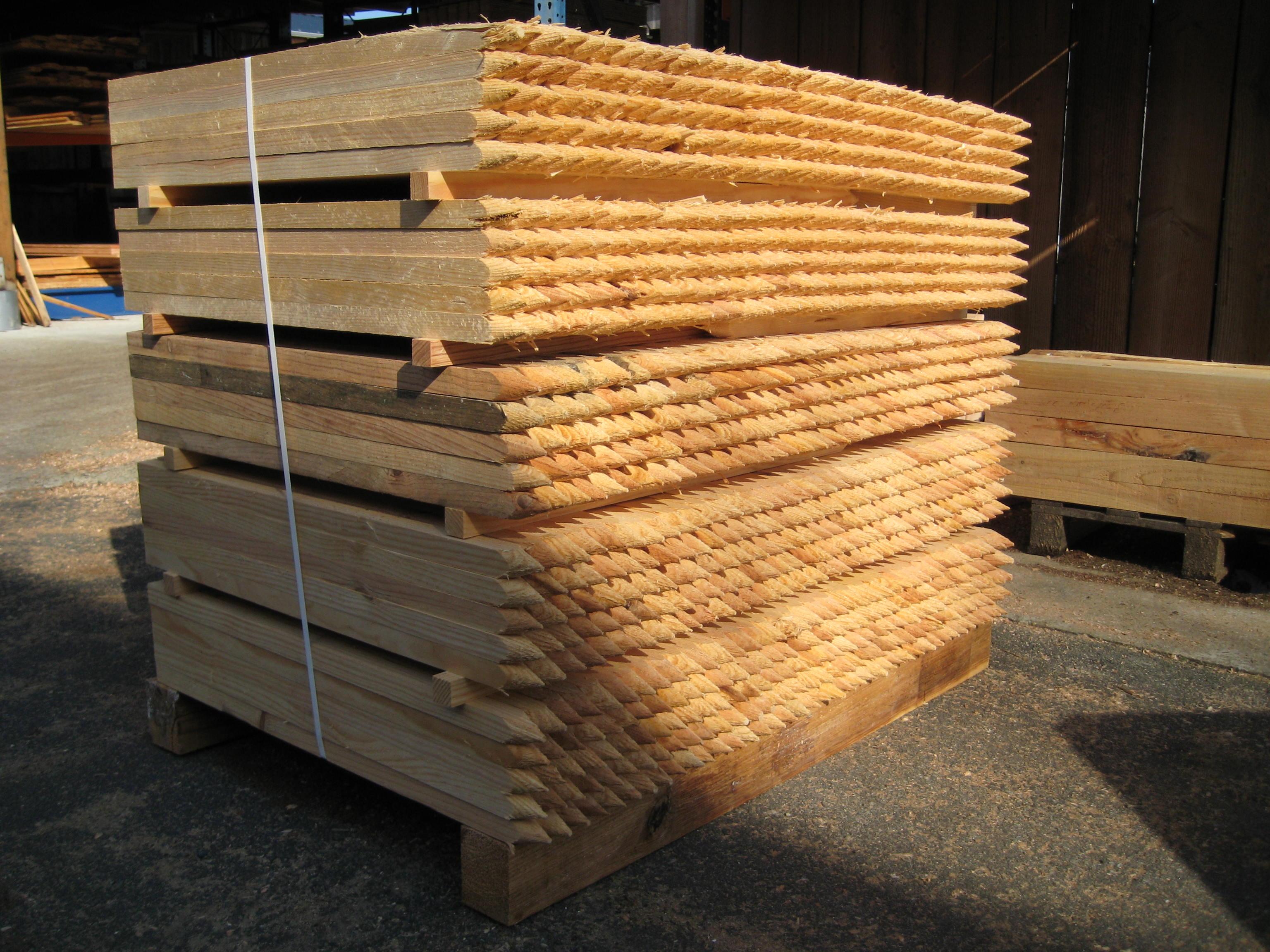 Piquets de chantier bois
